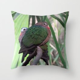 Green-Winged Dove Throw Pillow