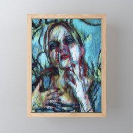 Blood Replaces Tears Framed Mini Art Print