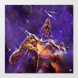 ALTERED Hubble Mystic Mountain- Carina Nebula Canvas Print