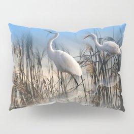 White Egrets in a Morning 1 Pillow Sham