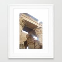 egypt Framed Art Prints featuring Egypt by Carissa W.