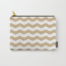 WAVES (TAN & WHITE) Carry-All Pouch
