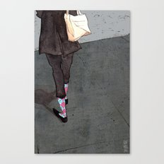 Argyle Socks by Kat Mills Canvas Print