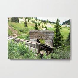 Black Bear Pass Road - Gold Rush Ore Loading Chute, No. 3 of 3 Metal Print