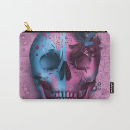 skull art decor pink Carry-All Pouch
