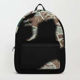 Elephant With Decorations In Colors Backpack