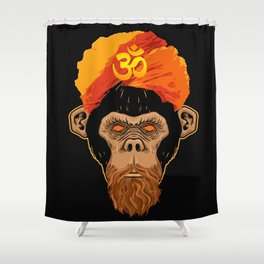 Stoned Monkey Shower Curtain