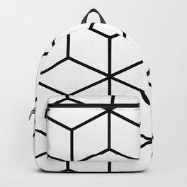 Black and White - Geometric Cube Design I Backpack