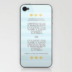 Waffles Friends Work iPhone & iPod Skin