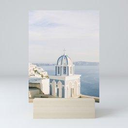 Pastel Blue Church Mini Art Print