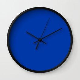 Royal Azure Color Solid Block Wall Clock