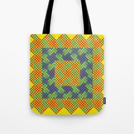 Dot Swatch Equivocated on Yellow Tote Bag