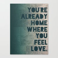home sweet home Canvas Prints featuring Home by Leah Flores