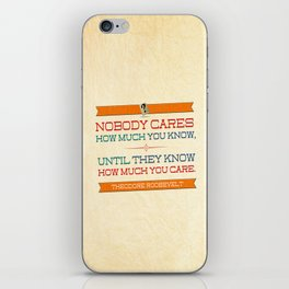 How Much You Care iPhone Skin