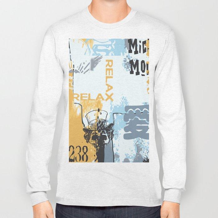 Random abstract typography street art Long Sleeve T-shirt