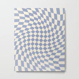 Blue Sky Checker Metal Print