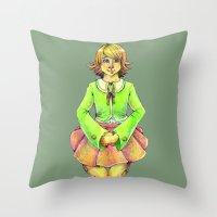 chihiro Throw Pillows featuring Chihiro by Mottinthepot