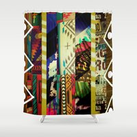 coyote Shower Curtains featuring Coyote Ugly by Lynsey Ledray