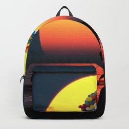 Sunset Balloons Girl Backpack