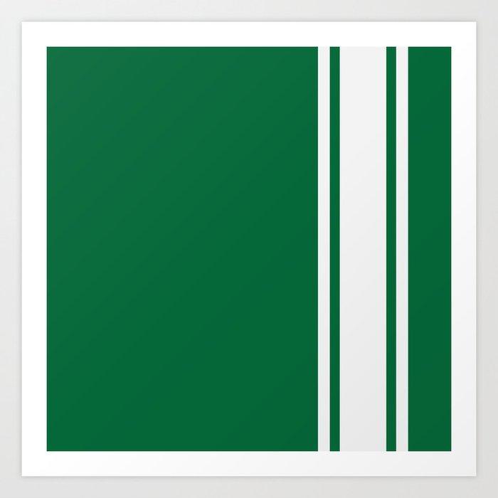 Green Racer Art Print