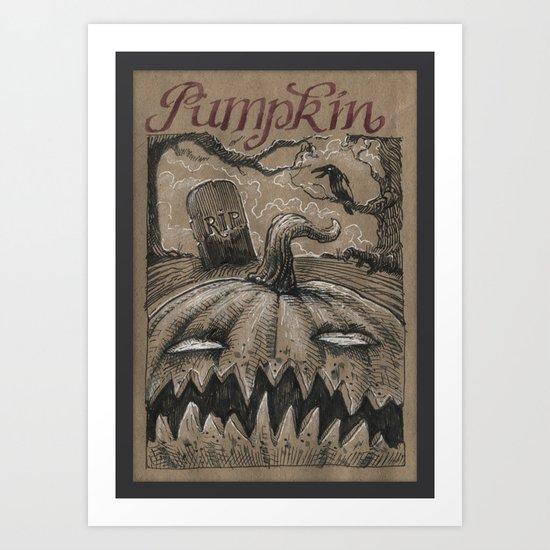 Pumpkin (Drawlloween 1/31) Art Print