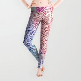 Rainbow Mandala Doodle Leggings