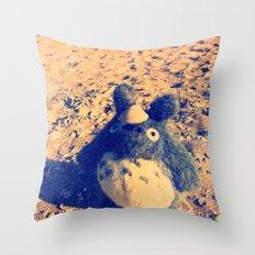 Totoro says HI to you ^_^ Throw Pillow