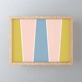 Retro Spring Color Block Framed Mini Art Print