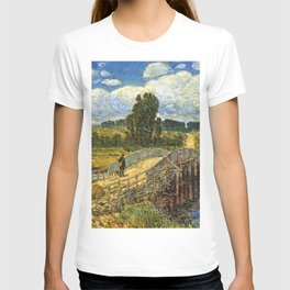 Classical Masterpiece 'Bridge at Old Lyme, Connecticut'' by Frederick Childe Hassam T-shirt