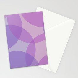 Purple Geometric Circles Stationery Cards