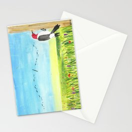 """Red Headed Woodpecker Morse Code - """"Fuck Off"""" Stationery Cards"""