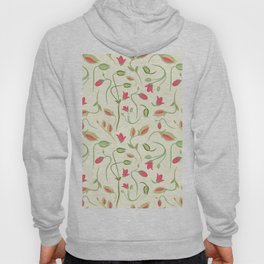 seamless summer tiny floral pattern Hoody