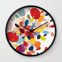 study Wall Clocks featuring Color Study No. 2 by Emily Rickard
