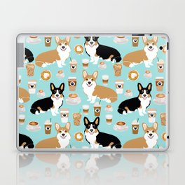 Corgis and coffee pillow phone case corgi gift cute cardigan corgi art Laptop & iPad Skin