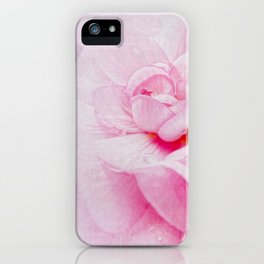 Pink Geranium Macro iPhone Case