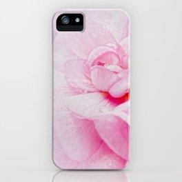 Pink Geranium Macro iPhone Case