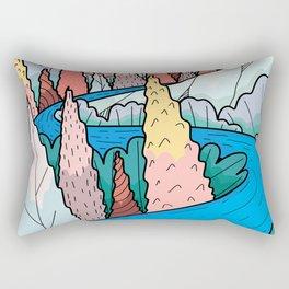 An autumn river way Rectangular Pillow