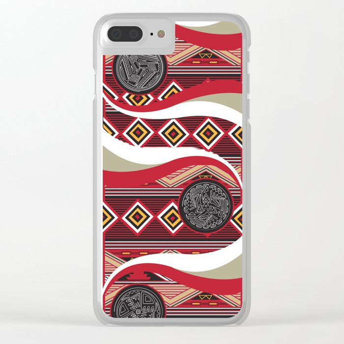 American Native Poster Clear iPhone Case