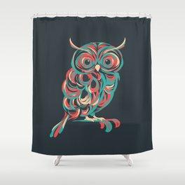 Night Owl Shower Curtain