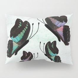 Purple and Blue Butterflies  Pillow Sham