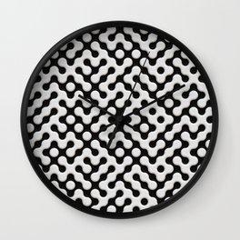 Black & White Truchet Tilling Mosaic Wall Clock