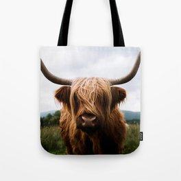 Scottish Highland Cattle in Scotland Portrait II Tote Bag