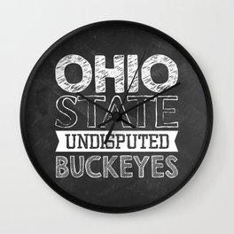 Undisputed Buckeyes Wall Clock