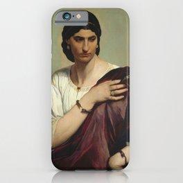Anselm Feuerbach - Half-Length Portrait of a Roman Woman (1866) iPhone Case