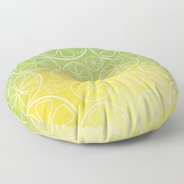 Citrus slices (green/yellow) Floor Pillow