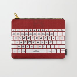 Photoshop Keyboard Shortcuts Red Carry-All Pouch