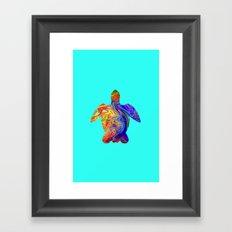 Psychedelic Sea Turtle Framed Art Print