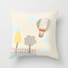 baloon collage Throw Pillow