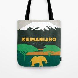Kilimanjaro Tanzania, travel illustration Tote Bag