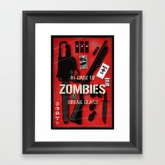 Zombie Emergency Kit Framed Art Print